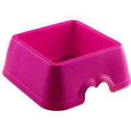 Plastic bowl square 18x18x7cm