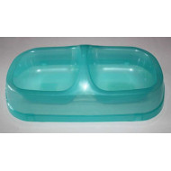 Plastic Dual Bowl 2x300ml
