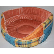 Orange foam lounger