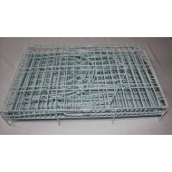 Metal cage on wheels green 91x63x82,5cm