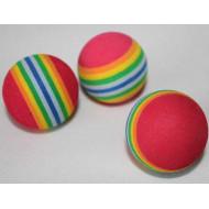 Rainbow foam ball 3 cm