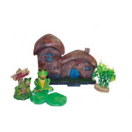 Decoration house with plants - set