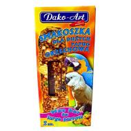 Tyčinky pre veľkých papagájov - orechové 2ks