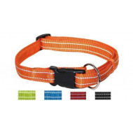 Reflective nylon collar 2,5x40-65cm