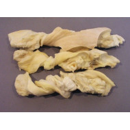 Sušená hovädzia koža od 40cm biela