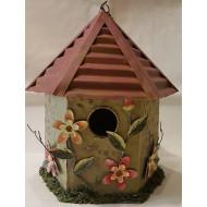 Plechový domeček pro ptáky C