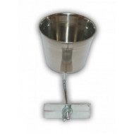 Stainless bowl on stick with 0.47l clamp