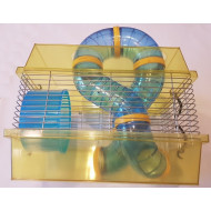 Cage for rodents with equipment