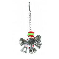 Hračka so zvoncami pre papagáje 20x6cm