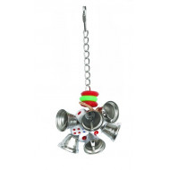 Toy with bells for parrots 20x6cm