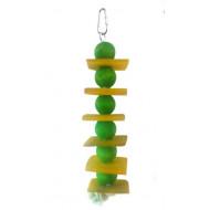 Drevená hračka pre papagáje 30x3,5cm