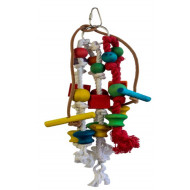 Rope toy for parrots 25x10cm