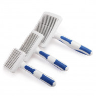 Self-cleaning brush blue-white square 17x6.8x4.4cm