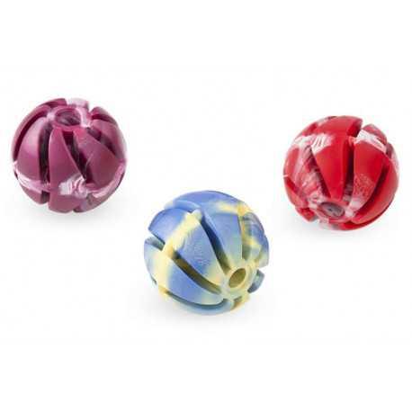 Lopta parfémovaná z tvrdej gumy dierovaná 5cm