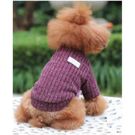 Knitted brown-purple sweater