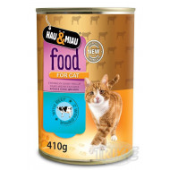 Canned HM beef in cat juice 400 g