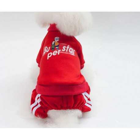 Overalls SuperStar red