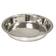 Stainless shallow bowl