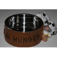 Stainless steel bowl decorated