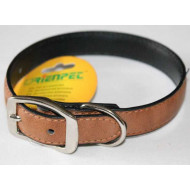 Brown collar eco leather