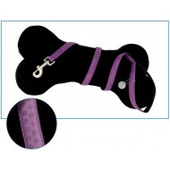 Leather leash purple 1x120cm