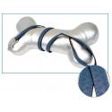 Kožené vodítko tmavo modré 1x120cm