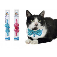 Nylon collar with ribbon 1x19-29cm