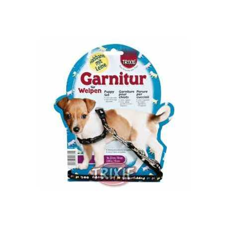 Postroj nylonový s vodítkem pro štěně 0,8x16-23cm