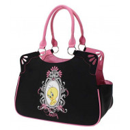 Tweety black and pink bag 40x20x30cm